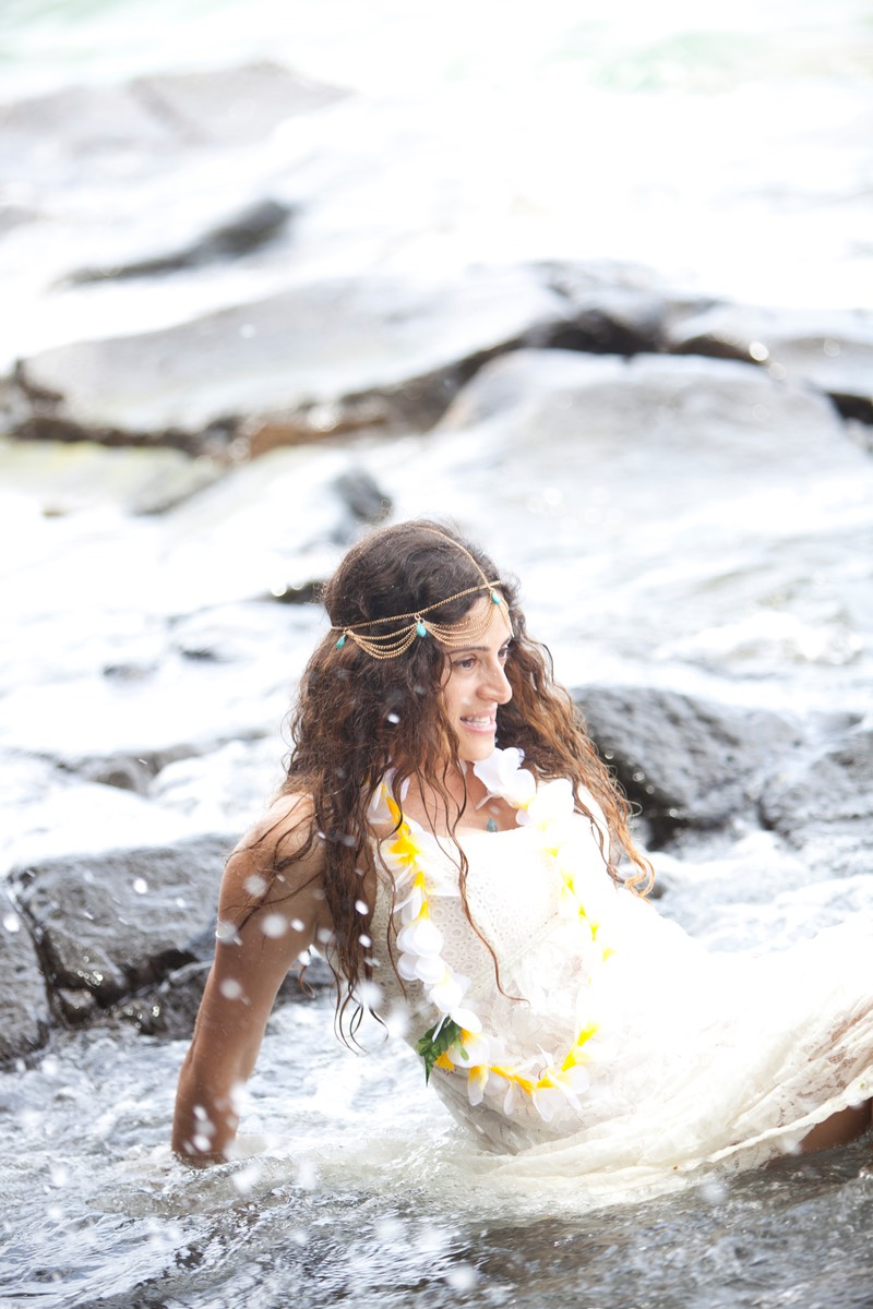 If you splash me Kauai wedding photographer Difraser