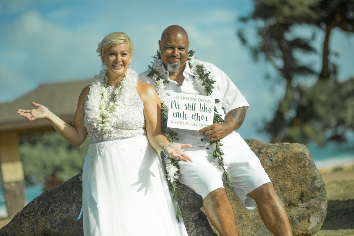 Vow renewal after 20 years, and they still like each other
