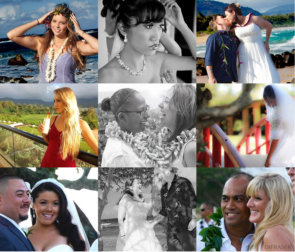 Kauai wedding photography and cinematography filmed by veteran English film maker David Fraser